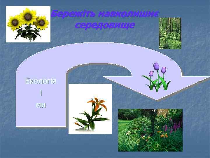 Бережіть навколишнє середовище Екологія і ми