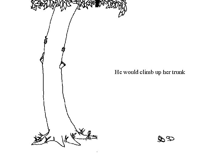 He would climb up her trunk