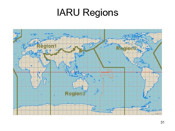 IARU Regions 31