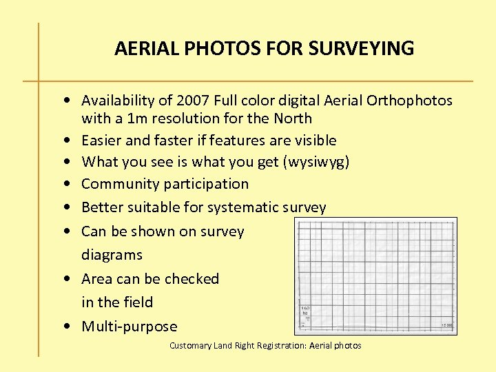 AERIAL PHOTOS FOR SURVEYING • Availability of 2007 Full color digital Aerial Orthophotos with