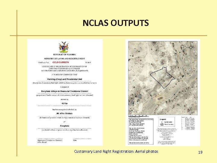 NCLAS OUTPUTS Customary Land Right Registration: Aerial photos 19