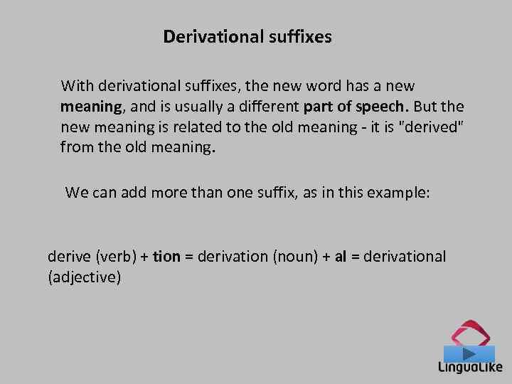 Prefixes Suffixes Prefixes A prefix goes