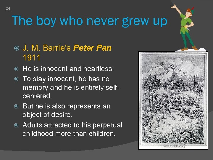 24 The boy who never grew up J. M. Barrie's Peter Pan 1911 He