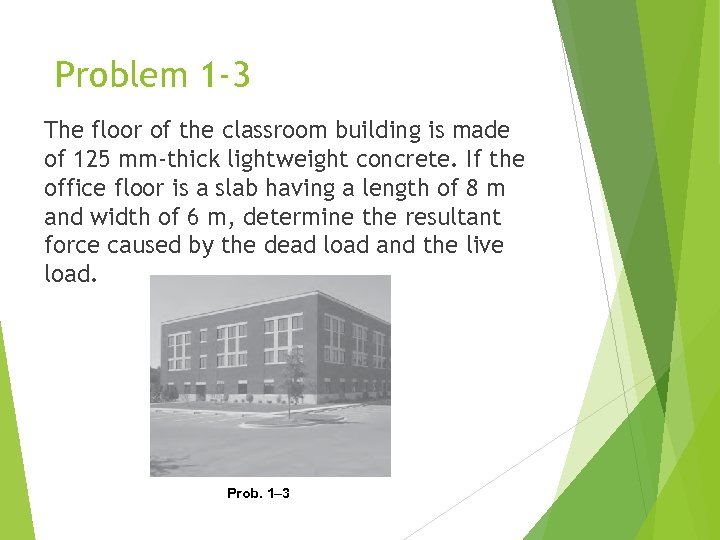 Problem 1 -3 The floor of the classroom building is made of 125 mm-thick