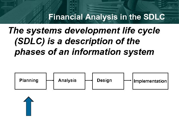 Financial Analysis in the SDLC The systems development life cycle (SDLC) is a description