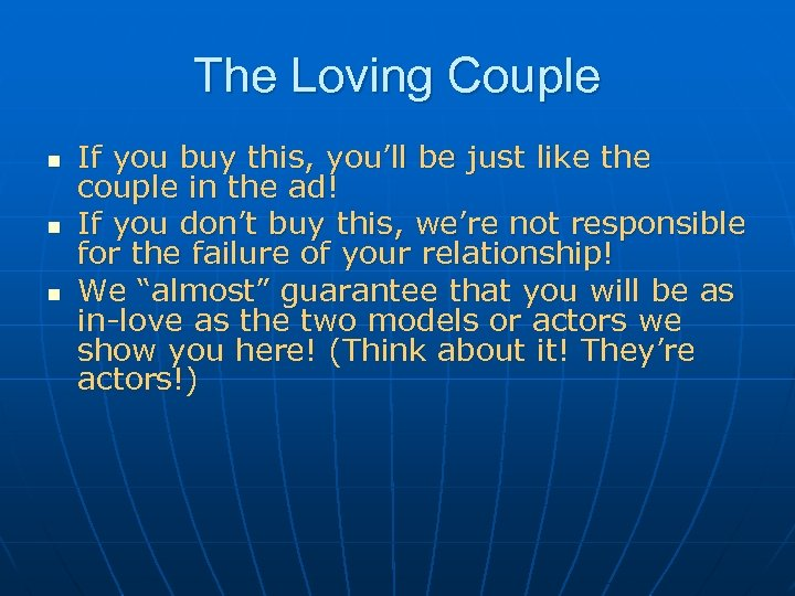 The Loving Couple n n n If you buy this, you'll be just like