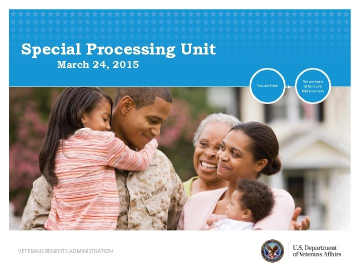 Special Processing Unit March 24, 2015 VETERANS BENEFITS ADMINISTRATION
