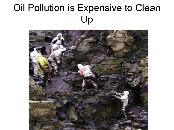Oil Pollution is Expensive to Clean Up