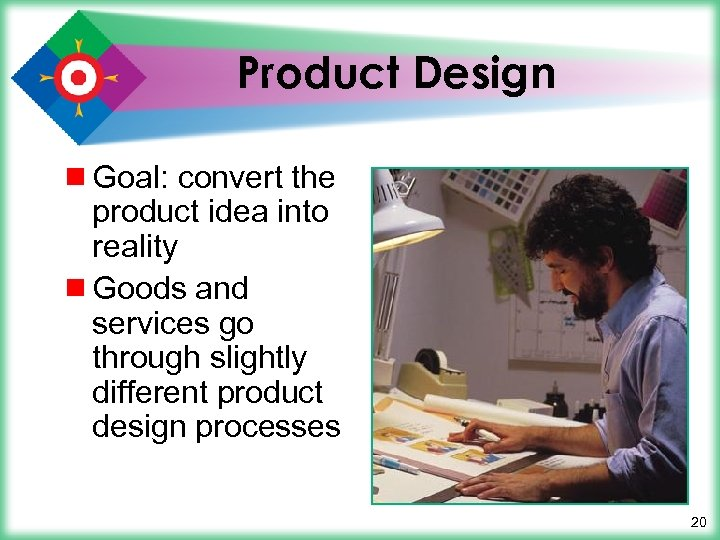 Product Design ¾ Goal: convert the product idea into reality ¾ Goods and services