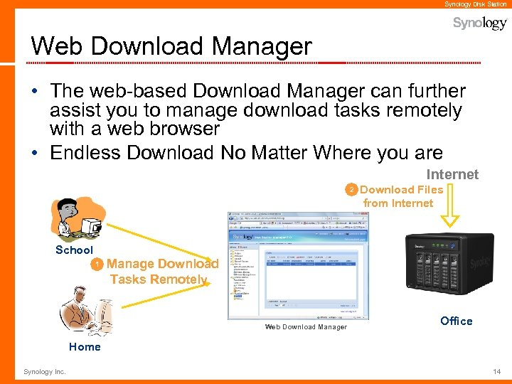 Synology Disk Station Web Download Manager • The web-based Download Manager can further assist