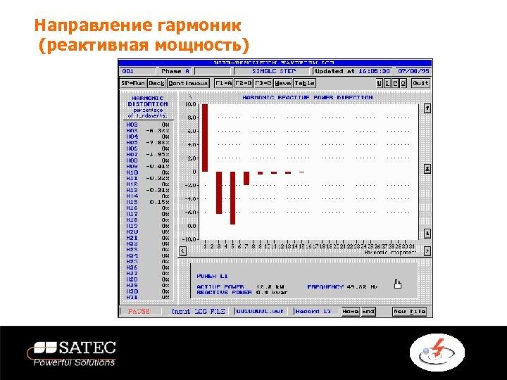 Направление гармоник (реактивная мощность)
