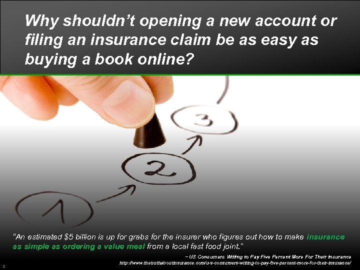 Why shouldn't opening a new account or filing an insurance claim be as easy