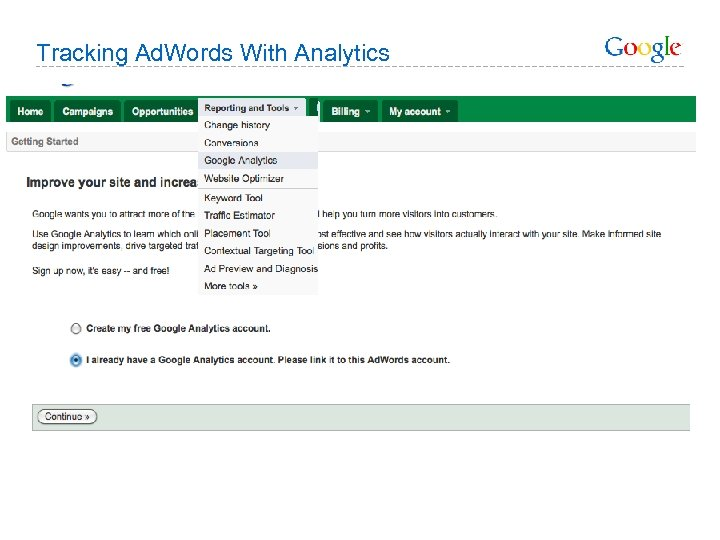 Tracking Ad. Words With Analytics