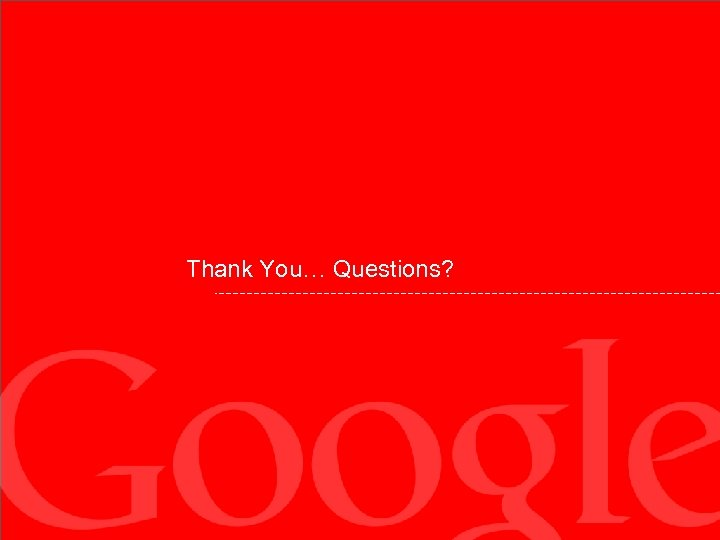 Thank You… Questions?