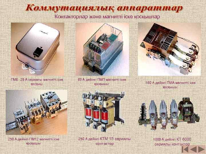 Контакторлар және магнитті іске қосқыштар ПМЕ 25 А сериялы магнитті іске қосқыш 250 А