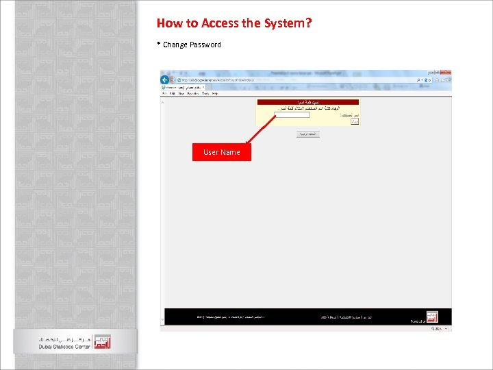 How to Access the System? * Change Password User Name