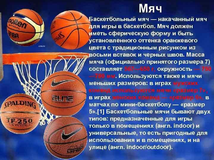 описание баскетбола по картинке имя