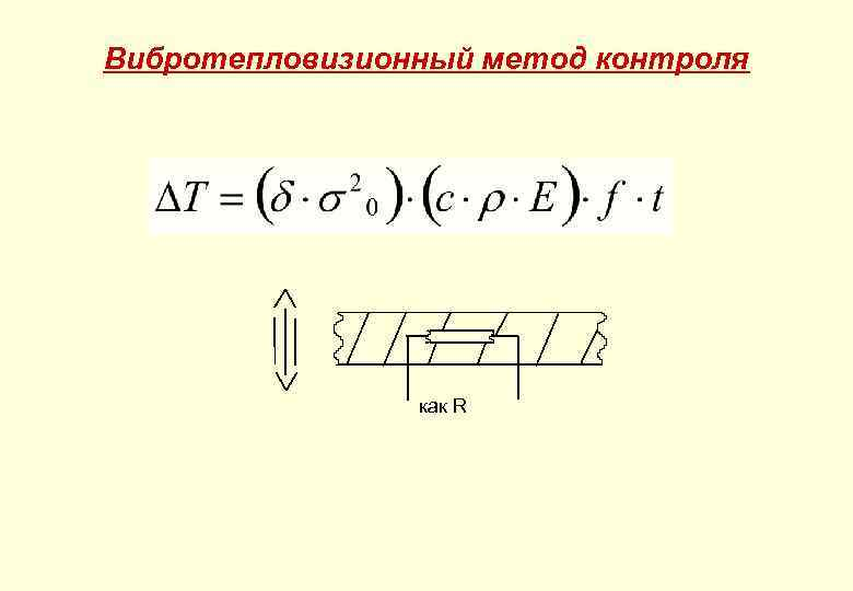 Вибротепловизионный метод контроля как R
