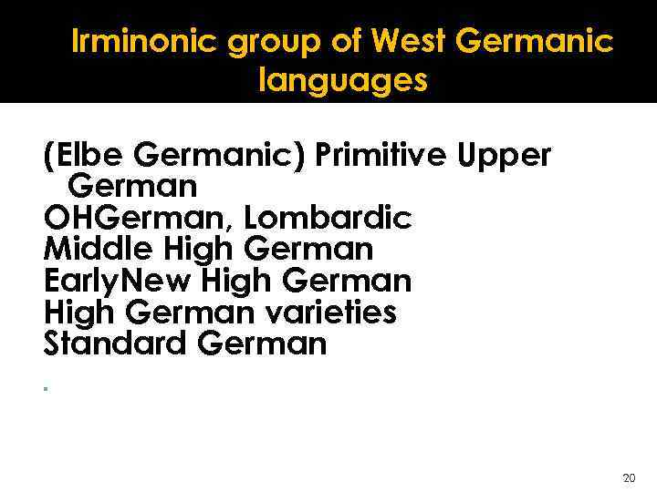 GERMANIC ALPHABETS AND LITERARY MONUMENTS Lecture 4