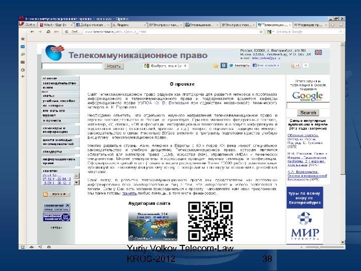 Yuriy Volkov Telecom-Law KROS-2012 38