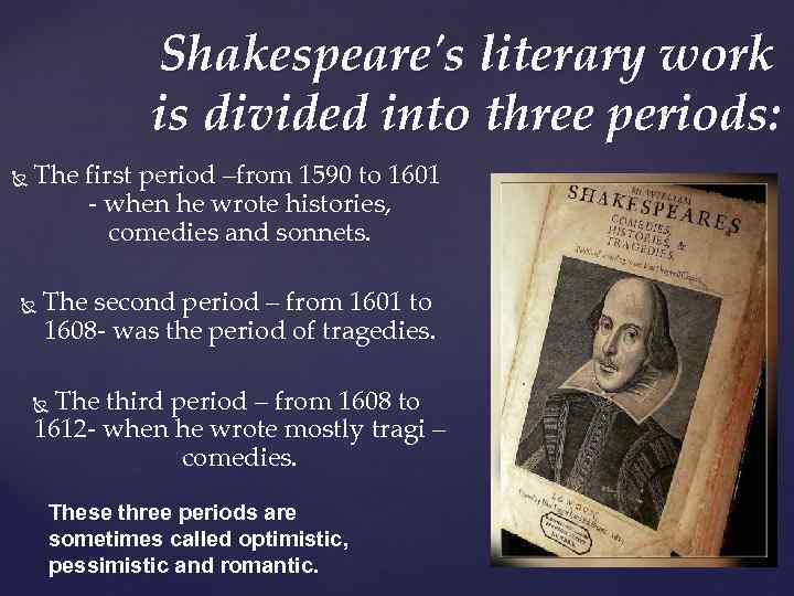 an analysis of william shakespeares comparison of works Chaucer verse shakespeare one of the many characters differing between chaucer's and shakespeare's works an analysis of the play by william shakespeare.