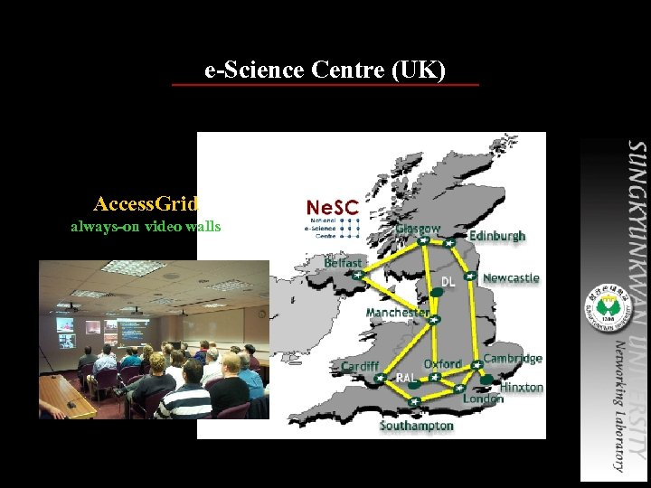 e-Science Centre (UK) Access. Grid always-on video walls