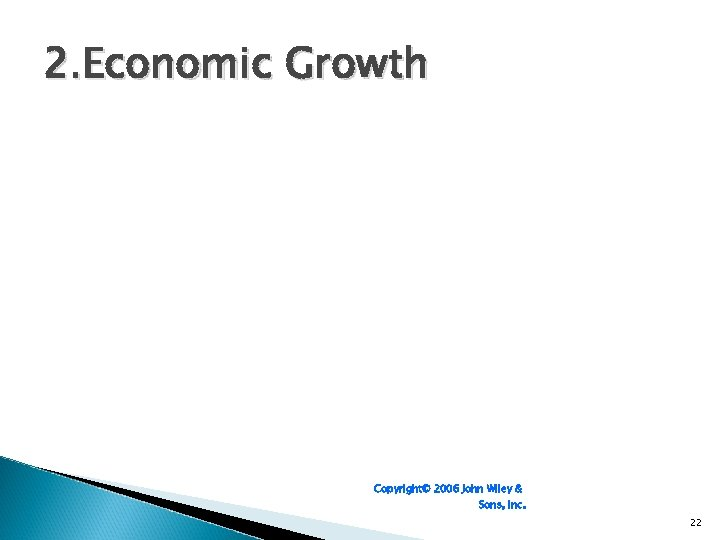 2. Economic Growth Copyright© 2006 John Wiley & Sons, Inc. 22