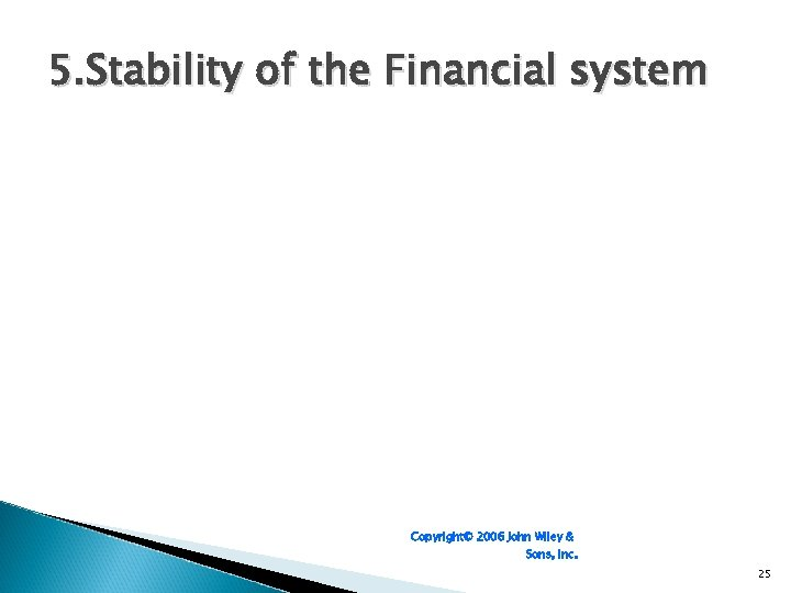 5. Stability of the Financial system Copyright© 2006 John Wiley & Sons, Inc. 25