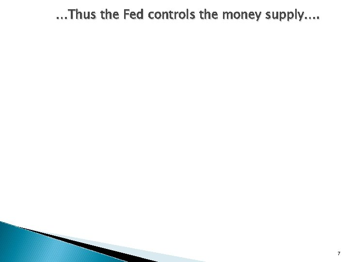 …Thus the Fed controls the money supply…. 7