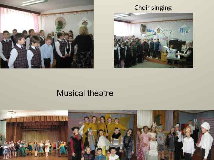 Сhoir singing Musical theatre