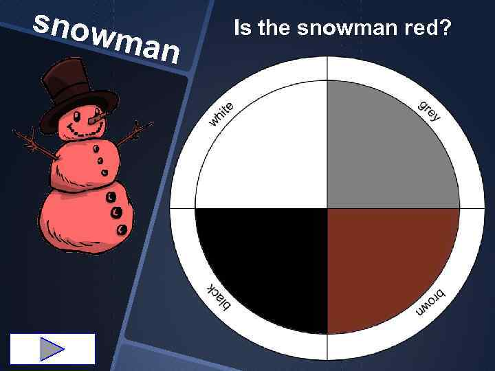 snow man Is the snowman red?
