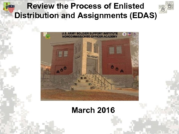 Review the Process of Enlisted Distribution and Assignments