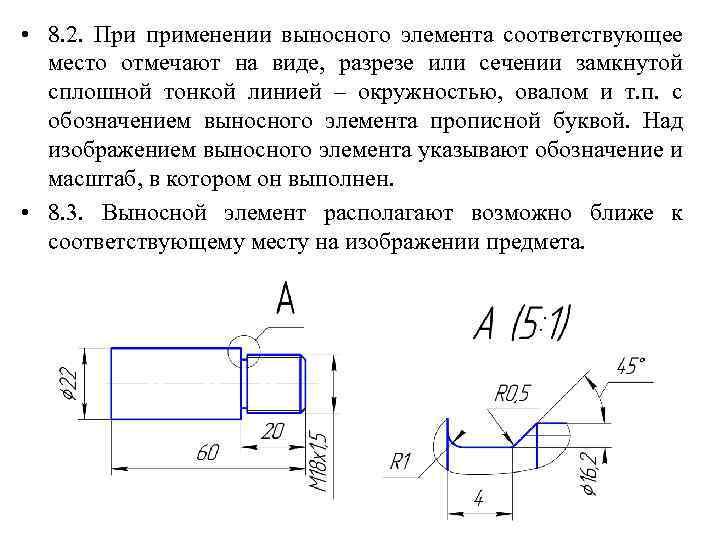 Как сделать выносной элемент 526