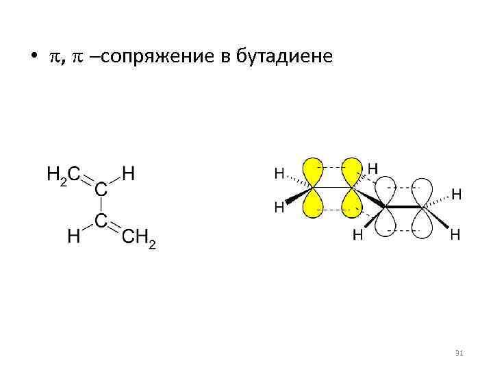 • p, p -сопряжение в бутадиене 31