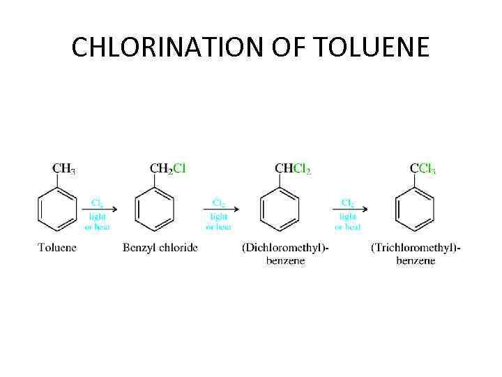 CHLORINATION OF TOLUENE