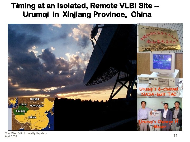 Timing at an Isolated, Remote VLBI Site -Urumqi in Xinjiang Province, China Urumqi's 6