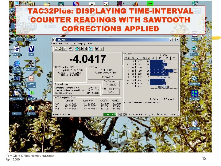 TAC 32 Plus: DISPLAYING TIME-INTERVAL COUNTER READINGS WITH SAWTOOTH CORRECTIONS APPLIED Tom Clark &