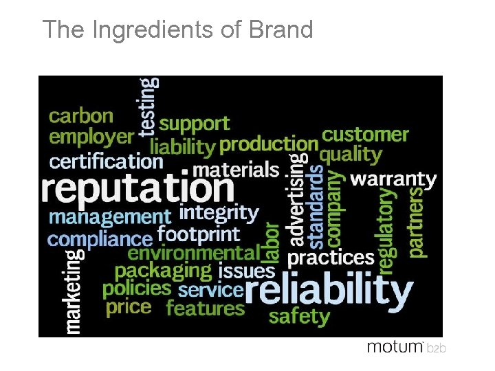 The Ingredients of Brand