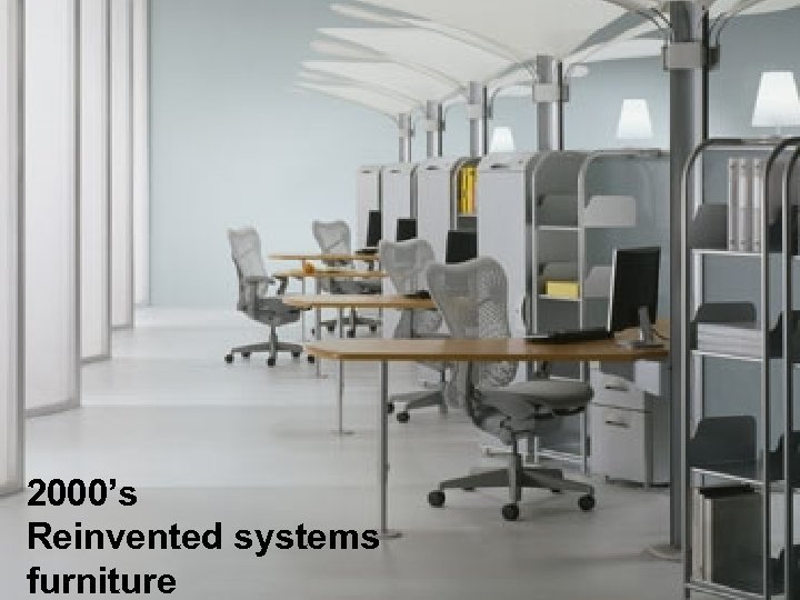2000's Reinvented systems furniture