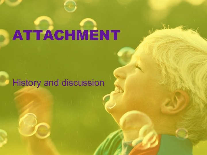 ATTACHMENT History and discussion