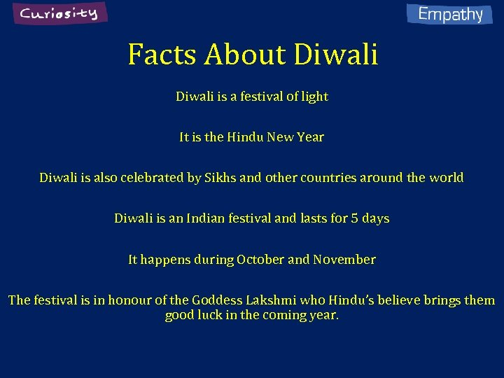 Facts About Diwali is a festival of light It is the Hindu New Year