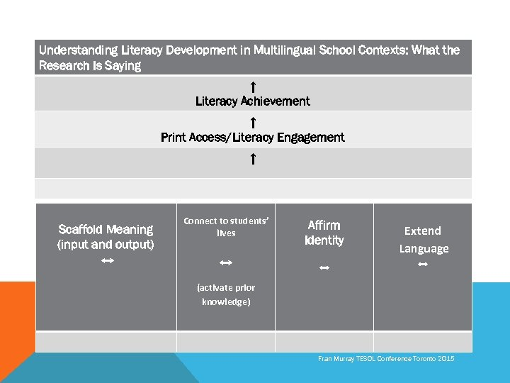 Understanding Literacy Development in Multilingual School Contexts: What the Research Is Saying ↑ Literacy