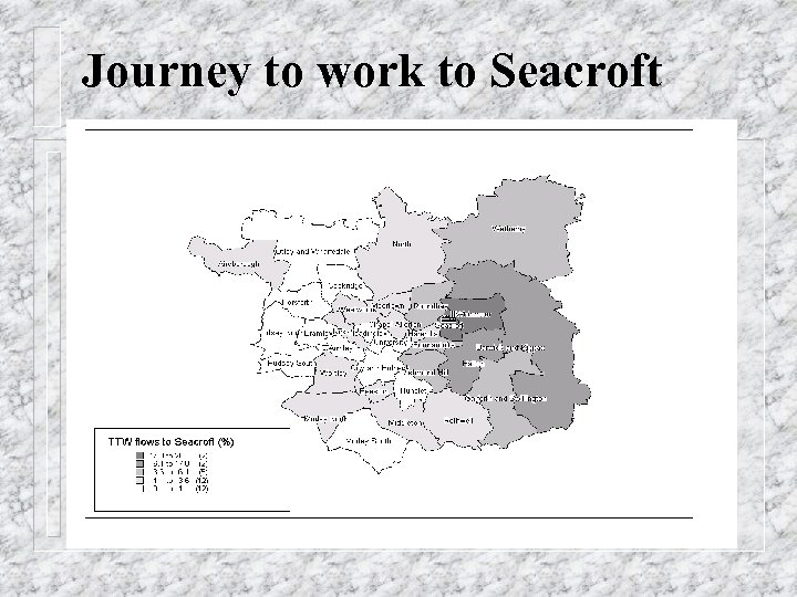 Journey to work to Seacroft