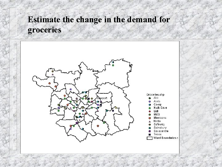 Estimate the change in the demand for groceries