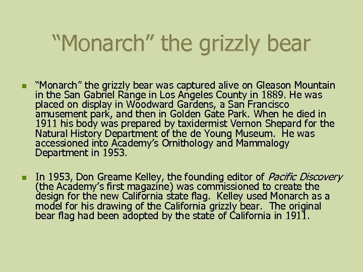 """""""Monarch"""" the grizzly bear n n """"Monarch"""" the grizzly bear was captured alive on"""