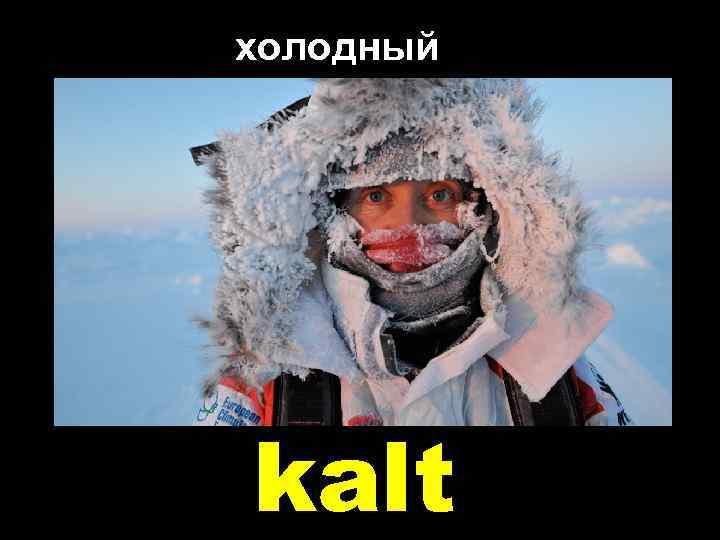 холодный kalt