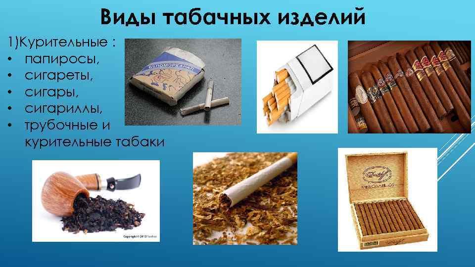Курительные табачные изделия виды запрет на продажу табачных изделий 2021