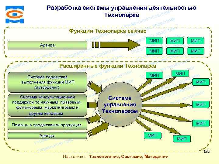 Разработка системы управления деятельностью ми екта Технопарка про Консалтинговая компания ТСМ ми ие лен