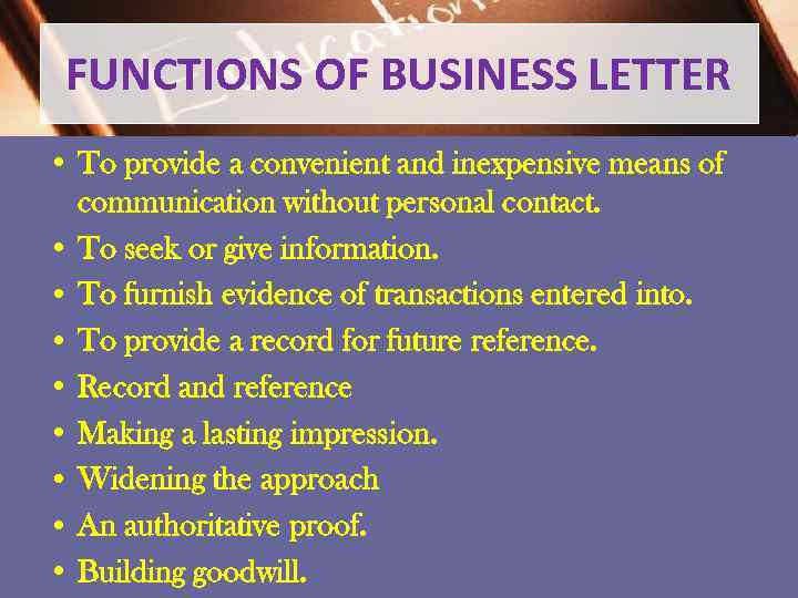 what is the definition of a business letter
