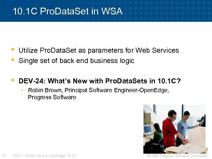 10. 1 C Pro. Data. Set in WSA § § Utilize Pro. Data. Set